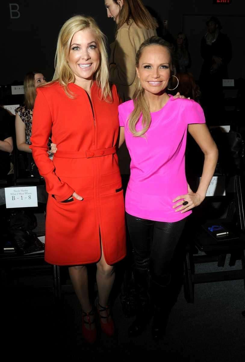 Actresses Jennifer Aspen and Kristin Chenoweth attend the