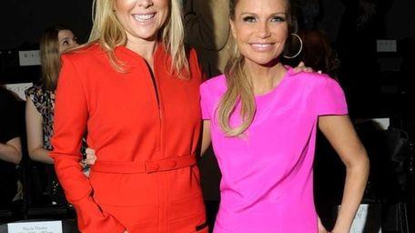 Actresses Jennifer Aspen and Kristin Chenoweth attend the