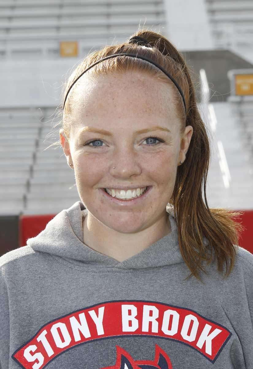 Stony Brook attack Claire Petersen. (Feb. 1, 2012)