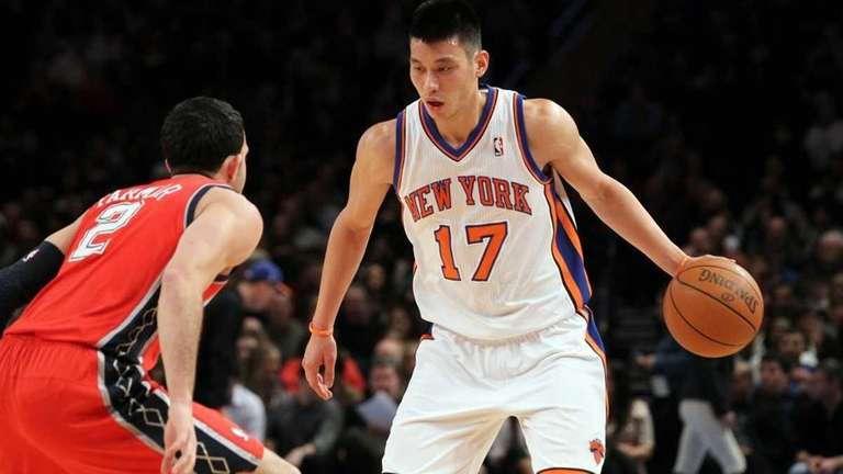Jeremy Lin of the New York Knicks in