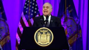 New York State Comptroller Thomas DiNapoli speaks before