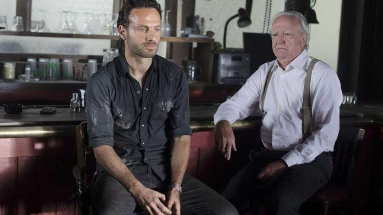 Rick Grimes (Andrew Lincoln) and Hershel Greene (Scott