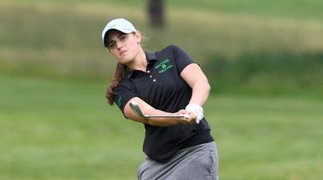 Cold Spring Harbor's Jennifer Rosenberg drives the ball