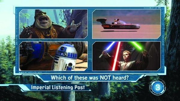 Screenshot from 'Scene It?: Star Wars.'