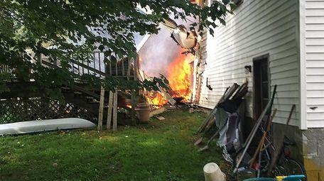 A Cessna 303 aircraft crashed into a house