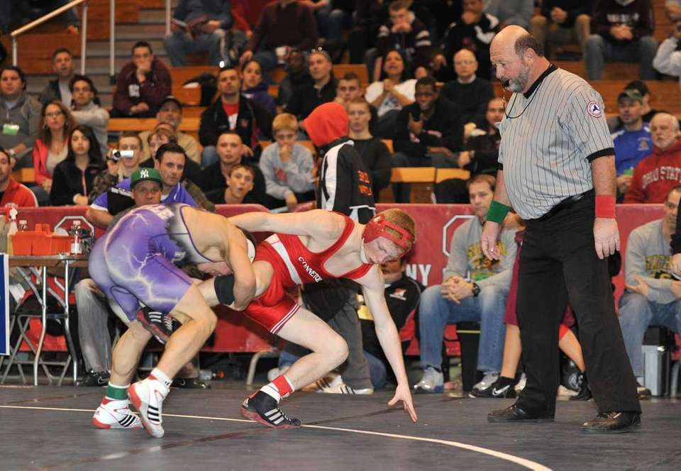 Islip's Natt Haag (purple) pushes out No. 1