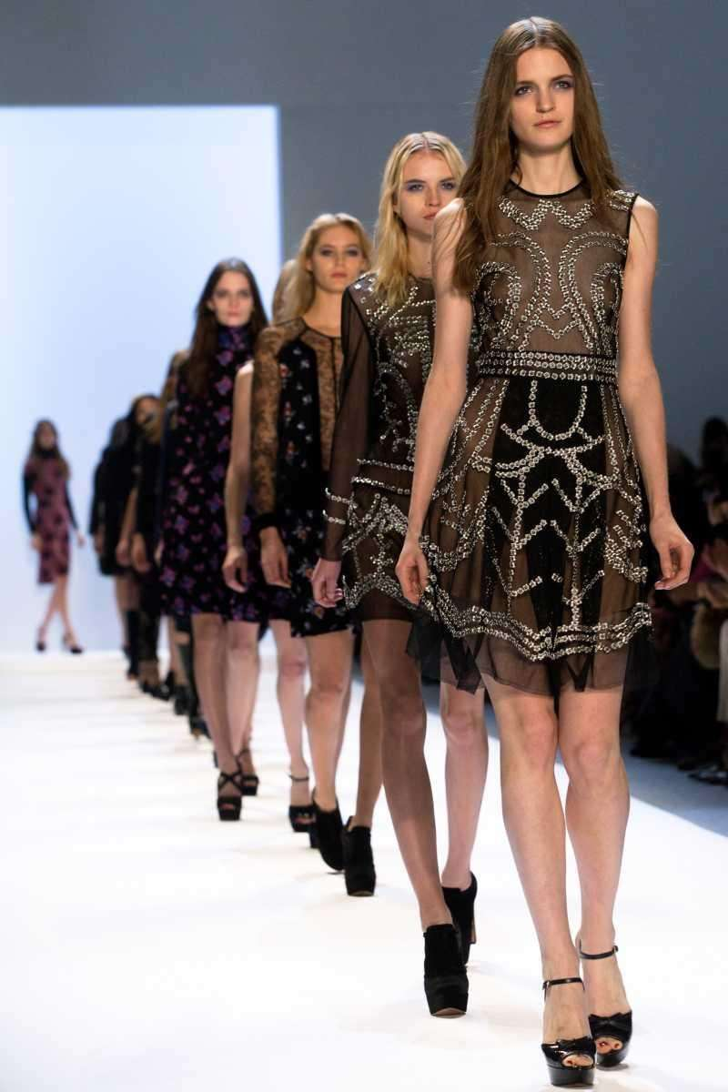 The Jill Stuart Fall 2012 collection is modeled