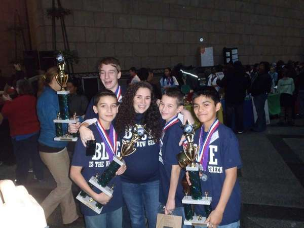 Islip Middle School's winning Future City engineering team: