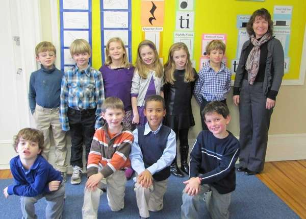 Ten students from Portledge School in Locust Valley,