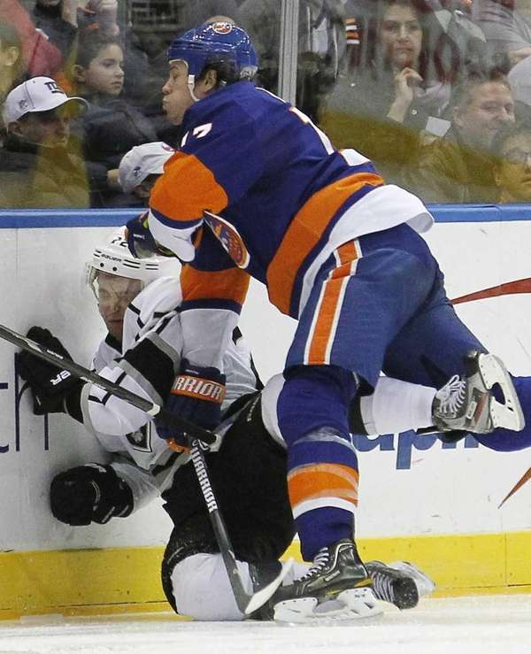 New York Islanders' Matt Martin checks Los Angeles