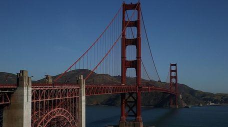 The Golden Gate Bridge in San Francisco. The