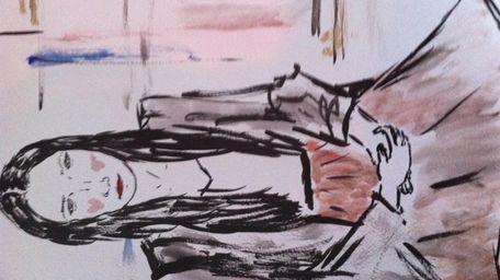 Fashion illustration of Nina Ruggiero by Parsons student