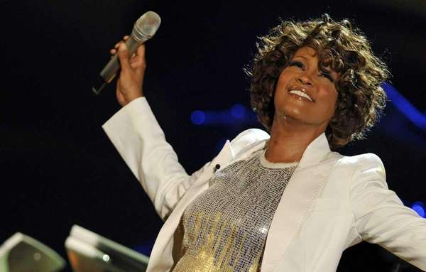 Whitney Houston performs on stage during the 183rd
