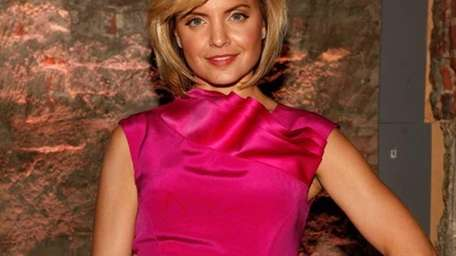 Mena Suvari poses backstage at the Venexiana Fall