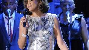 Whitney Houston performs at the pre-Grammy gala &