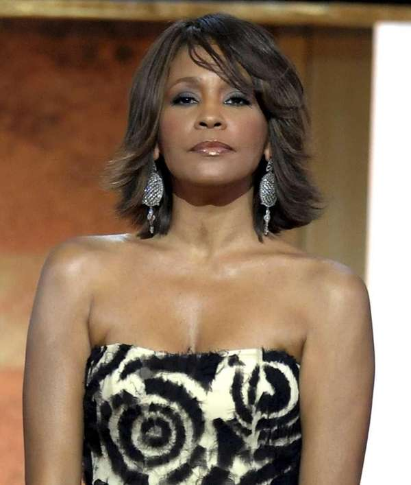 This file photo shows singer Whitney Houston at