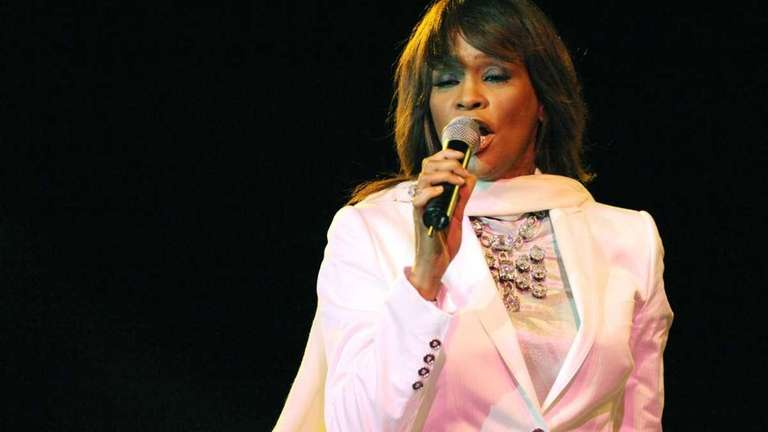 Whitney Houston performs in Rabat during the closing