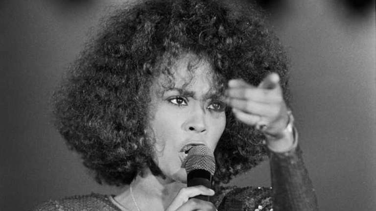 Whitney Houston performing at the Monte Carlo Sporting