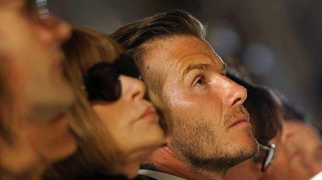 English soccer star David Beckham and Anna Wintour,