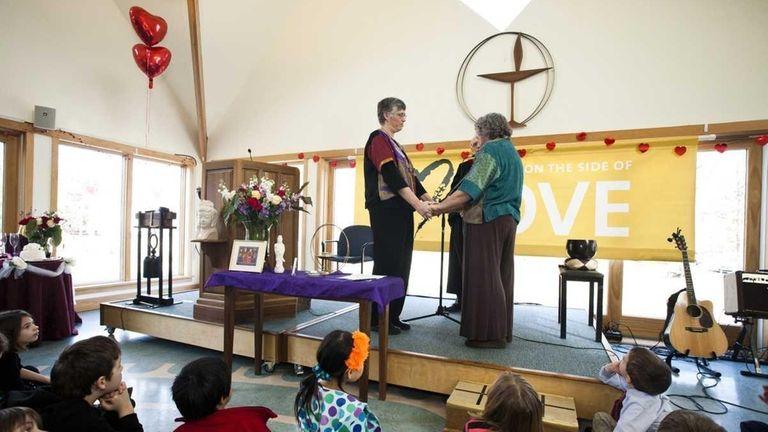 On left, Rev. Margie Allen and Rev. Dr.