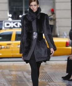 The DKNY fall 2012 collection is modeled during
