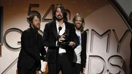 Foo Fighters accept the award for hard rock