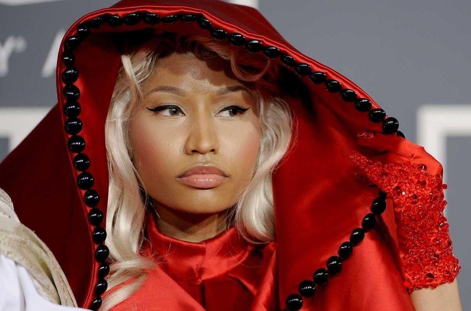 Nicki Minaj arrives at the 54th annual Grammy