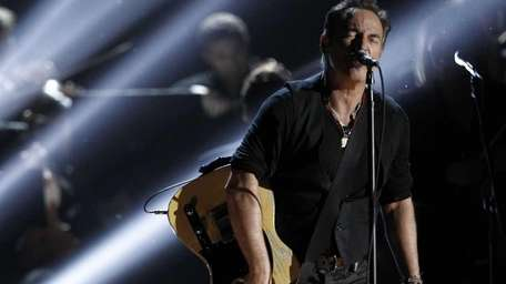 Bruce Springsteen performs at the 54th annual Grammy