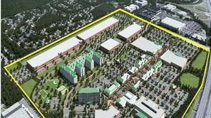 Serota Properties proposes this 136-acre Islip Pines development