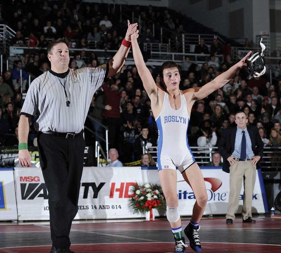 JOHN LANZILLOTTI Roslyn 120 pounds Nassau County champion