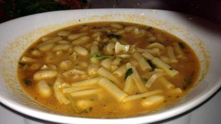 Pasta e fagioli soup at Porto Fino restaurant