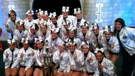 The Rocky Point High School varsity cheerleading team