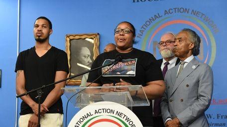 Emerald Snipes Garner, Eric Garner's daughter, speaks about
