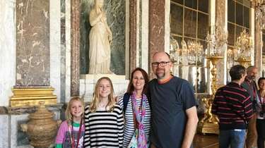Erika Mailman and her family at the Hall