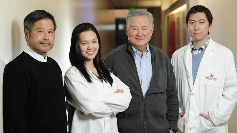 Left to right: Dr. Benjamin Hsiao, Anna Sato,