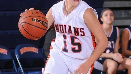 Halle Majorana looks for an open teammate in