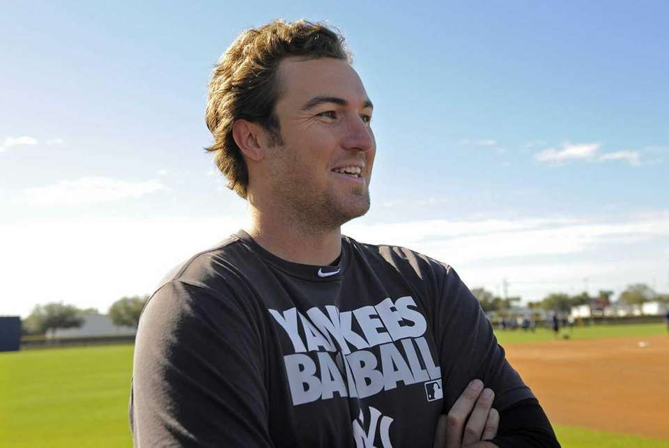 New York Yankees pitcher Phil Hughes speaks to