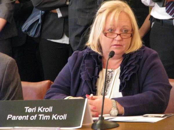 Teri Kroll, whose son Tim died after using