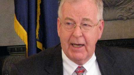 New York State Sen. Kemp Hannon chairs a