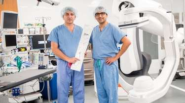 Drs. Apostolos Tassiopoulos, left, and Mohsen Bannazadeh, of