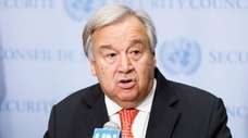 United Nations Secretary-General Antóonio Guterres at United Nations