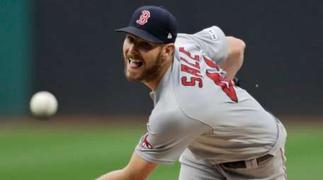 Red Sox starting pitcher Chris Sale delivers in