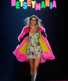 A model walks the runway at the Betsey
