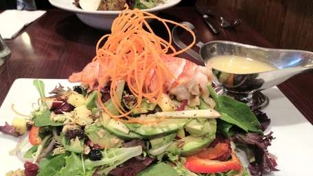 Maine lobster tail salad with lemon vinaigrette at