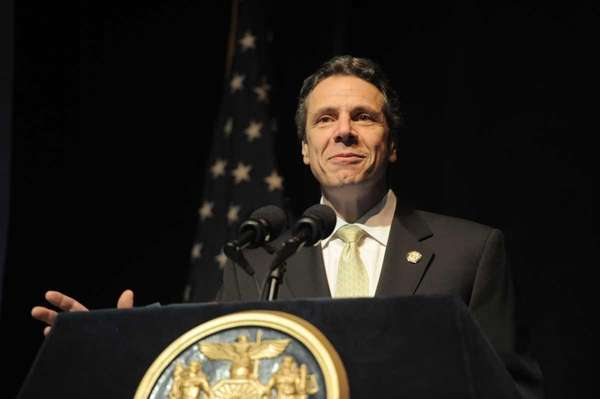 Gov. Andrew Cuomo speaks at Molloy College. (Feb.