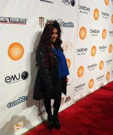 Nicole 'Snooki' Polizzi at the Bebe runway show