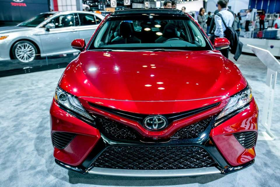 The Toyota Camry XSE on display at the