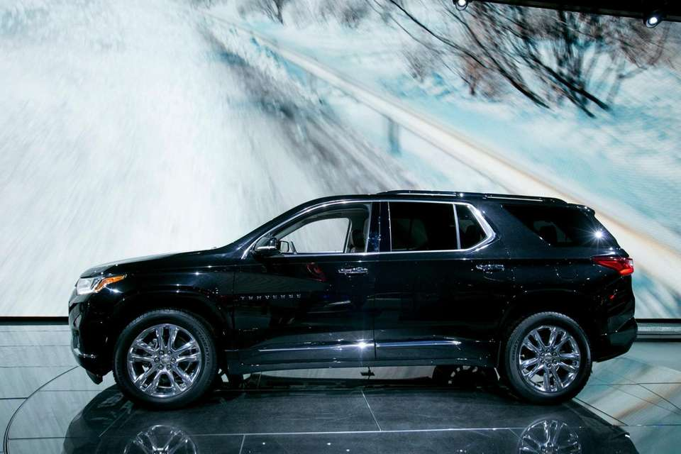 The Chevy Traverse on display at the New