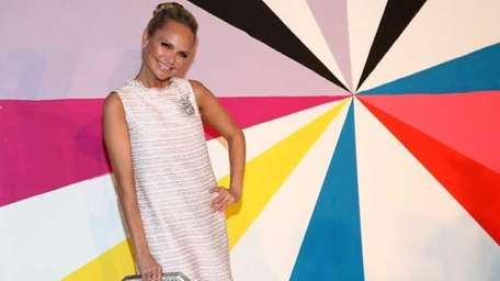 Kristin Chenoweth poses on the runway at the