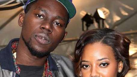 Theophilus London and Angela Simmons attend the Diesel